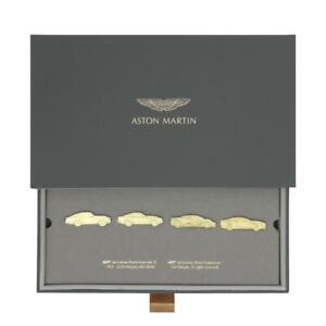 Official James Bond Aston Martin 007 Car Set 4 Metal Pin Badges No Time To Die