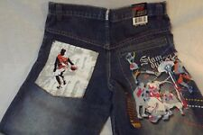 Mens Basketball Denim Jeans Artistic Embroidered Slam Dunk New Tags 29x30