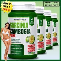 GARCINIA CAMBOGIA 95% 3000mg Daily Capsules Vegetarian Weight Loss Diet Pills