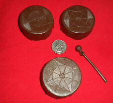 Marx 3 Drums and Stick Lot Johnny West  Best Of The West Accessory Part