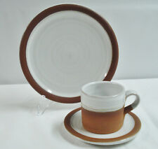 3pc Stephen Pearce Pottery Cup Saucer Salad Dessert Plate Ireland Studio Redware
