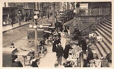 Real Photo Postcard Fruit, Flower, Food Market Horse Pulled Amish Carts~111876