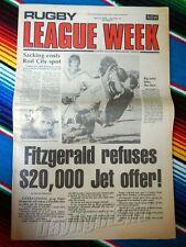 ✺RUGBY LEAGUE WEEK✺ 1978 Vol 9 No 11 PARRAMATTA EELS Denis Fitzgerald NRL Big
