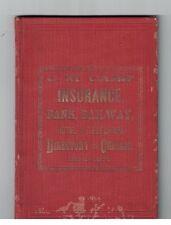 Directory of Chicago 1876-77 Bank Railway Hotel & Telegraph CM Cass' Insurance