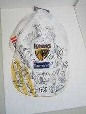HAWTHORN 2013 PREMIERS TEAM SIGNED HAWKS CAP UNFRAMED + PHOTO PROOF C.O.A