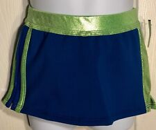 Cheer Gk Child Small Royal Nylon/Spandex Lime Mystique Cheer Skirt Sz Cs Nwt!