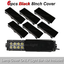 "6x 8""Inch Snap on Black LED Light Bar Len Covers ATV UTV Offroad 4WD 50"" 52"" 54"""