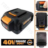 WORX WA3580 40V 2.0Ah Li-ion Battery for WG180, WG280, WG380, WG580