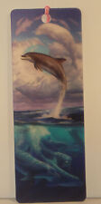Dolphin Symphony 3D bookmark 15cm x 5.75cm with tassel