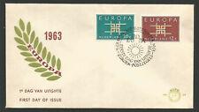 Pays-Bas Nederland FDC - 1er jour 1963 EUROPA /L2435