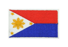 Philippines National Flag Embroidered Patch FILIPINO Sew Iron Badge Applique
