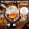 ☆ 850ml Glass Decanter Globe Liquor Whiskey Spirits Wine Drink Bottle Gift Decor