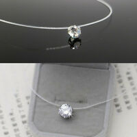 Women Round Necklace Crystal Pendant Clavicle Choker Charm Chain Jewelry S