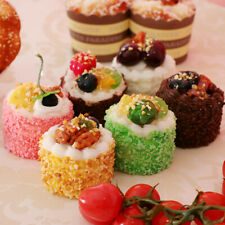 6pcs/Lot Artificial Mixed Sprinkle Cake Realistic Food Faux Cupcake Dessert