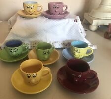 Wish It Was Spring  Sale: 7 Colorful Ceramic Novelty Demitasse Cups & Saucers