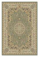 Soft Green Traditional Classic Oriental Wool Small Rug Mat 60x90cm 50%OFF RRP