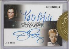 Kate Mulgrew and Jeri Ryan Autograph Card - Star Trek Voyage Heroes and Villains