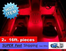 32ft. __ BIG kit __ 12v LED light kit - pontoon / fishing boat / ski boat -- RED