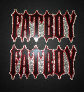 """2 NOS AUTHENTIC SPECIALIZED FATBOY """"GLITTER EFFECT"""" BIKE STICKERS / DECALS"""
