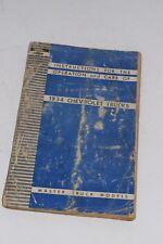 Original Vintage 1936 Chevrolet Trucks Operator's Manual