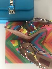 Valentino Rainbow ROCKSTUD Pointed 1973 Pumps New 41