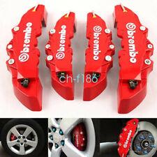 4Pcs 3D Style Car Universal Disc Brake Caliper Covers Front & Rear Kit RED US