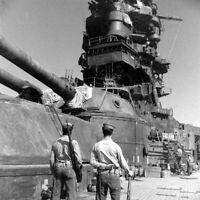WW2 WWII Photo IJN Battleship Nagato Take Over by US Navy World War Two 7240
