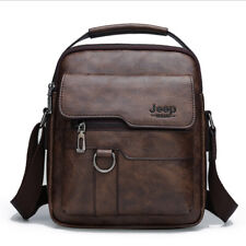 Jeep Buluo Men Soft Leather Messenger Shoulder Bag Crossbody Handbag Briefcase