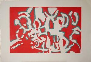 Carla Accardi incisione Ricerca del colore Rosso 100x70 firmata numerata 48/100