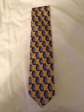 VAN HEUSEN DESIGNER 100% SILK MENS NECK TIE YELLOW