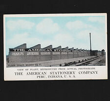 The American Stationary Co. Peru Indiana Advertising Postcard Unused