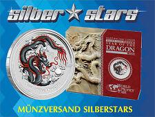 1 $ Oz Silber Australien 2012  Drache / Dragon WMF Berlin Coin Show Farbe Black