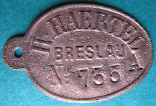 Trade token - PL Breslau Schlesien - now Wrocław Poland H. Haertel printing comp
