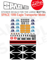 "MATTEL - SPACE 1999 EAGLE TRANSPORTER - STICKER DECALS - 31"" INCH MATTEL MODELS"
