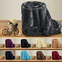 Luxury Christmas Blanket Large Sofa Throw Fleece Faux Fur Single Double & King