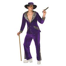 Morphsuits Mens Pimp Daddy Purple Velvet Fancy Dress Costume - 3 Piece Quality C