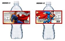 20 SUPERMAN PERSONALIZED BIRTHDAY PARTY FAVORS WATER BOTTLE LABELS WRAPPERS