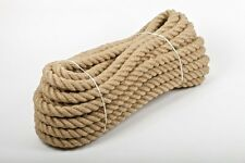 18mm Natural Jute Hessian Rope Cord Twine Braided Twisted Boating Garden Boating