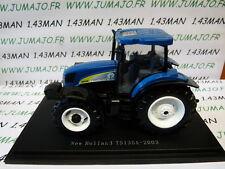 Tracteur 1/43 universal Hobbies n° 152 : NEW HOLLAND TS135A 2003