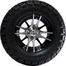 "Golf Cart Wheels and Tires Combo - 12"" RHOX RX101 w/ All Terrain Tires (x4)"