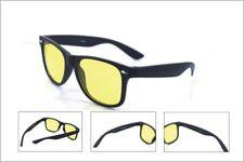 2140 Yellow Lenses Night Vision Driving Unisex Classic Glasses Reduce Glare NEW