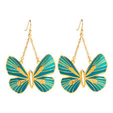Guess Jewelry UBE41306 Ladies Gold Stainless Steel Blue Butterfly Earrings