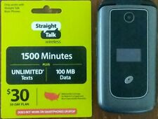MOTOROLA ZTE PHONE + $30 STRAIGHT TALK REFILL CARD FOR BASIC PHONES ONLY *READ*