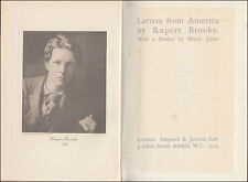 Rupert Brooke LETTERS FROM AMERICA Boston NEW YORK Niagara CANADA Indian ROCKIES