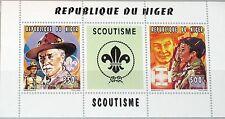 NIGER 1996 Klb 1203-04 MS 867-8 Boy Scouts Pfadfinder Baden Powell Death Ann MNH