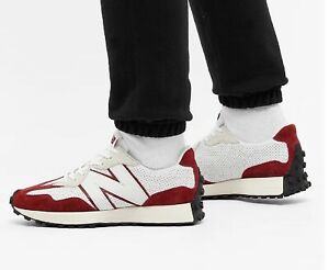 DS MENS NEW BALANCE 327 MS327PE RED WHITE PRIMARY PACK RUN SHOES SZ 10 Authentic