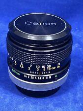 Vintage Canon FD 50mm F/1.4 SSC Prime Lens AE-1 Manual Focus