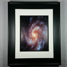 Hubble Space Telescope: Spiral Star Galaxy M106 Poster Photo Print Matted Framed
