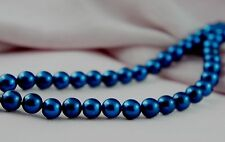140pcs 6mm Dark Blue Color Faux Imitation Acrylic Round Loose Pearl Beads
