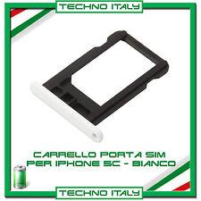 CARRELLO SLOT PORTA MICRO SIM TRAY BIANCO WHITE  PER IPHONE 5C